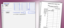Business deposit Slips